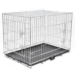 stradeXL Składana metalowa klatka dla psa, XL