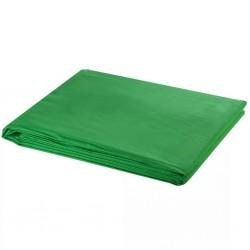 stradeXL Backdrop Cotton Green 600x300 cm Chroma Key