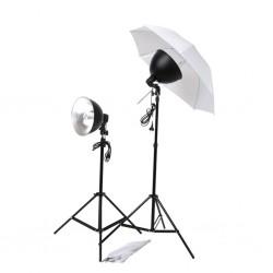 stradeXL Zestaw świateł do studia z parasolkami, kloszami i statywami