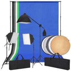 stradeXL Studio fotograficzne z softbox, tłami i blendą fotograficzną