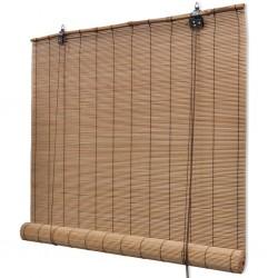 stradeXL Rolety bambusowe, 120 x 220 cm, brązowe