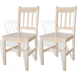 stradeXL Krzesła stołowe, 2 szt., drewno sosnowe