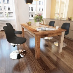 stradeXL Obrotowe krzesła stołowe, 4 szt., czarne, sztuczna skóra