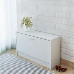 stradeXL Shoe Storage Bench White 80x24x45 cm