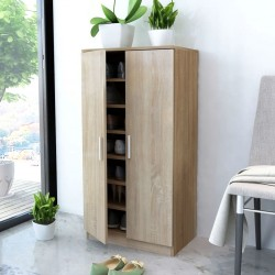 stradeXL Shoe Cabinet 7 Shelves Oak