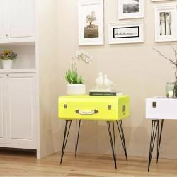 stradeXL Szafka w kształcie walizki 49,5 x 36 x 60 cm, żółta