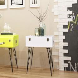stradeXL Szafka w kształcie walizki, 40x30x57 cm, biała