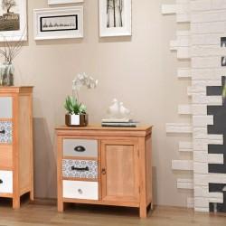 stradeXL Szafka, kredens z szufladami 65x35x60 cm, eukaliptus