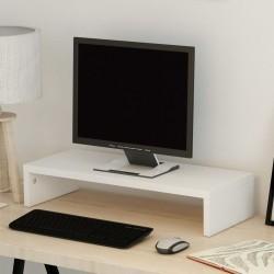 stradeXL Podstawka pod monitor z płyty wiórowej 60 x 23,5 x 12 cm, biała