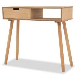 stradeXL Stolik typu konsola, drewno sosnowe, 80x30x72 cm, brązowy
