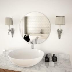 stradeXL Wall Mirror 50 cm Round Glass