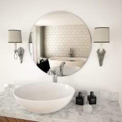 stradeXL Wall Mirror 60 cm Round Glass