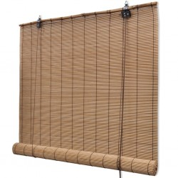 stradeXL Roller Blind Bamboo 100x220 cm Brown