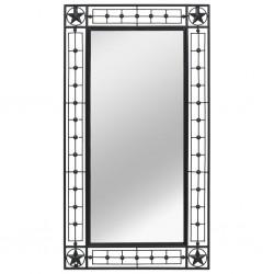 stradeXL Lustro ścienne, prostokątne, 60 x 110 cm, czarne