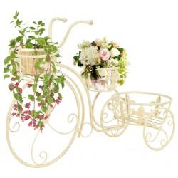 stradeXL Stojak na rośliny w kształcie roweru vintage, metalowy