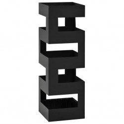 stradeXL Umbrella Stand Tetris Steel Black