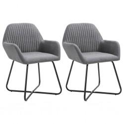 stradeXL Krzesła stołowe, 2 szt., ciemnoszare, tapicerowane tkaniną