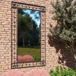 stradeXL Lustro ścienne do ogrodu, prostokątne, 60 x 110 cm, czarne