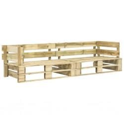 stradeXL Sofa ogrodowa z palet, 2 osobowa, drewno