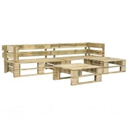 stradeXL 4-cz. zestaw wypoczynkowy do ogrodu, palety, drewno