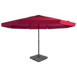stradeXL Parasol ogrodowy z przenośną podstawą, czerwony