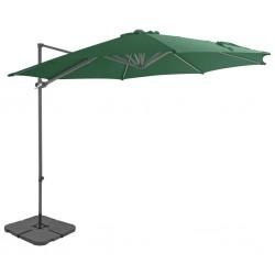 stradeXL Parasol ogrodowy z przenośną podstawą, zielony