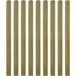 stradeXL 30 impregnowanych sztachet drewnianych, 140 cm