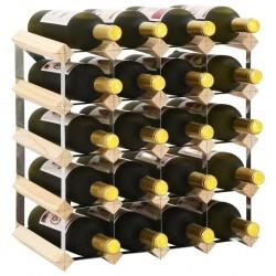 stradeXL Stojak na 20 butelek wina, lite drewno sosnowe