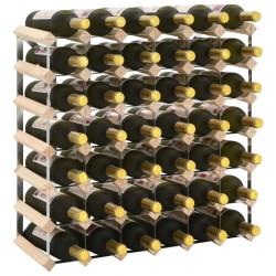 stradeXL Stojak na 42 butelki wina, lite drewno sosnowe