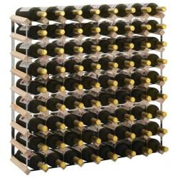 stradeXL Stojak na 72 butelki wina, lite drewno sosnowe