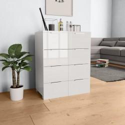 stradeXL Komoda biała na wysoki połysk, 60 x 35 x 76 cm, płyta wiórowa