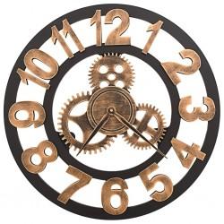 stradeXL Zegar ścienny, metalowy, 58 cm, złoto-czarny