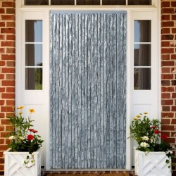 stradeXL Insect Curtain White and Grey 90x220 cm Chenille