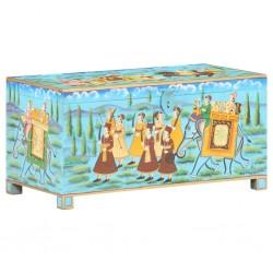 stradeXL Ręcznie malowana skrzynia, 80x40x40 cm, lite drewno mango