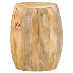 stradeXL Stołek w kształcie bębna, lite drewno mango
