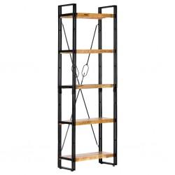 stradeXL 5-poziomowy regał na książki, 60x30x180 cm, lite drewno mango
