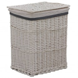 stradeXL Stackable Laundry Basket White Willow