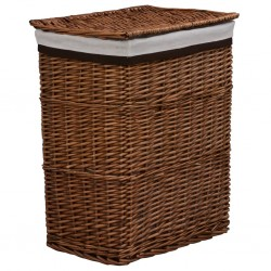 stradeXL Stackable Laundry Basket Brown Willow