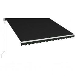 stradeXL Automatycznie zwijana markiza, 450 x 300 cm, antracytowa