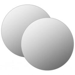 stradeXL Lustra ścienne, 2 szt., 60 cm, okrągłe, szklane