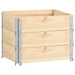 stradeXL Nadstawki paletowe, 3 szt., 60x80 cm, lite drewno sosnowe