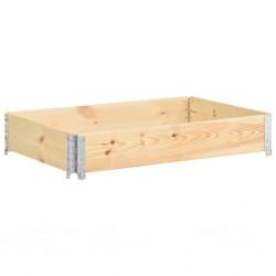 stradeXL Nadstawka paletowa, 80x120 cm, lite drewno sosnowe