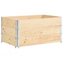 stradeXL Nadstawki paletowe, 3 szt., 80x120 cm, lite drewno sosnowe