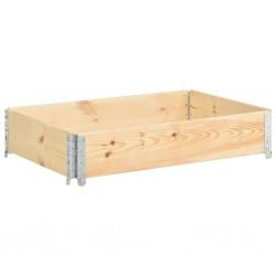 stradeXL Nadstawka paletowa, 50x100 cm, lite drewno sosnowe