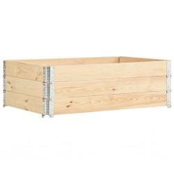 stradeXL Nadstawki paletowe, 3 szt., 50x150 cm, lite drewno sosnowe