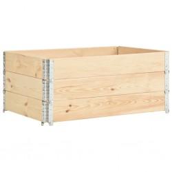 stradeXL Nadstawki paletowe, 3 szt., 100x150 cm, lite drewno sosnowe