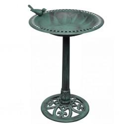 Basenik dla ptaków z figurką ptaszka
