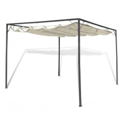 stradeXL Garden Gazebo with Retractable Roof Canopy