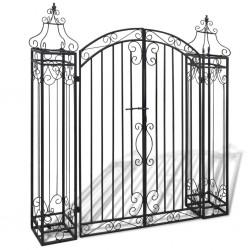 stradeXL Ozdobna brama ogrodowa z kutego żelaza, 122 x 20,5 x 134 cm