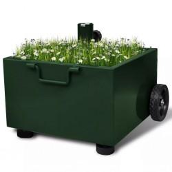 stradeXL Outdoor Umbrella Stand Plant Pot Green